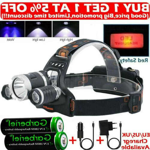 rechargeable 900000lms 3 x t6 led lamp