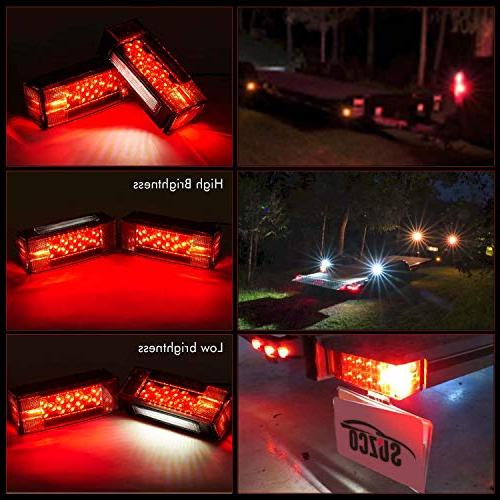 SUZCO Boat Low Tail License Running Signal Lights, Waterproof 80 inches