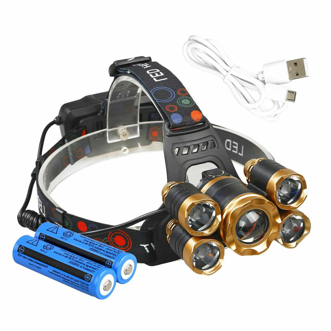 Super-bright XM-L Headlight Head Torch