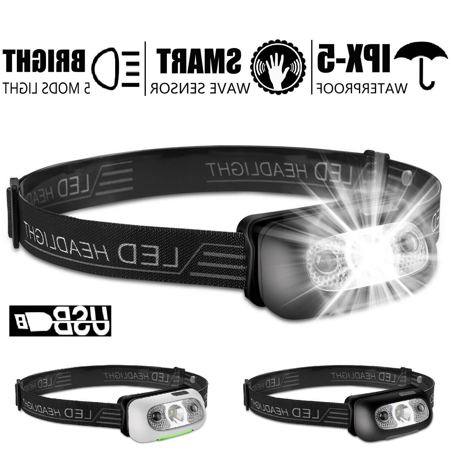 usb rechargeable led headlamp headlight head band