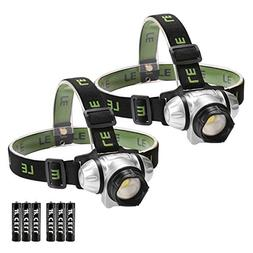LE LED Headlamp, 4 Lighting Modes, Lightweight Headlight for