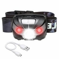 LE LED Headlamp Flashlight Rechargeable Headlights, USB Cabl
