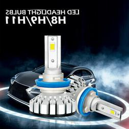 LED Headlights Lamps All-in-One Conversion Light Kit H11 H8