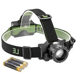 NEW LED Headlamp Flashlight Headlights Battery Powered  Zoom