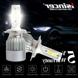 Pair 9003 H4 LED Headlight Bulbs Kit High-Low Beam Super Bri