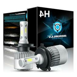 PAIR IRONWALLS H4 9003 HB2 LED Headlight Bulbs Kit Hi-Lo Bea