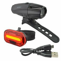 Lumintrail Rechargeable LED Bike Headlight and Taillight Bic