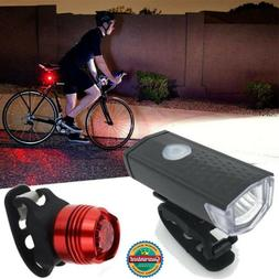 Super Bright Bicycle Light Set Headlight And Taillight Bike