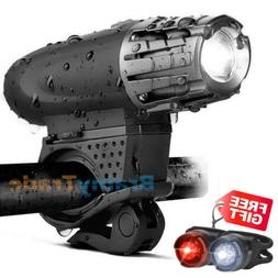 Reboos USB Rechargeable LED Bicycle Bike Headlight +TailLigh