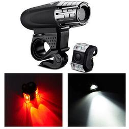 USB Rechargeable Bright LED Bicycle Bike Front Headlight and