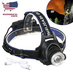 Waterproof 500000LM T6 LED Headlamp Headlight Flashlight Hea